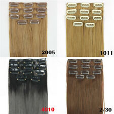 "24"" Women Girls Long Straight 5 Pieces Clip In On Full Head Hair Extension"