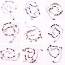 Stylish Alloy Crystal Drop Anklet Chain Silver Plated Bracelet Toned Anklet New