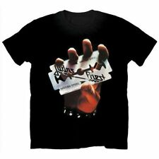 Judas Priest T Shirt British Steel Official Mens Black NEW Classic Metal Rock