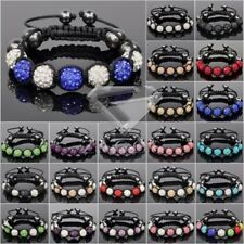 1pc Crystal Adjustable Bracelet Crystal Rhinestones And Clay Beads SL0003-4