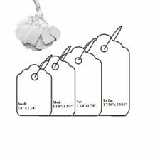 1000 Pcs JEWELRY PRICE TAGS CHAIN WHITE STRING PRICE TAGS WHITE SALE TAGS