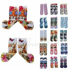 Animal Cartoon Printed 3D Cotton Casual Sock Stocking Middle Socks For Unisex