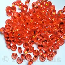 10MM RED WEDDING TABLE CONFETTI DIAMONDS SCATTER CRYSTALS DECORATIONS
