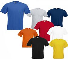 2 MENS FRUIT OF THE LOOM HEAVY COTTON T SHIRTS, CHOOSE YOUR 2 COLOURS