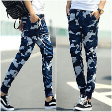New Korean Camouflage Mens Sport Casual Feet Trousers Baggy Jogger Harem Pants