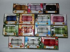 YANKEE CANDLE TEA LIGHTS BOX OF 12 ~ YOU PICK ~ SOME RETIRED SCENTS AVAILABLE