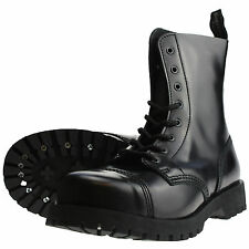 Boots & Braces 8-hole Boots and black Rangers Leather Jumper Steel Cap NEW