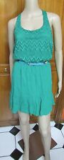 sixty triangles Emerald Green Juniors Casual Summer T-Back Dress NWOT Sz S M