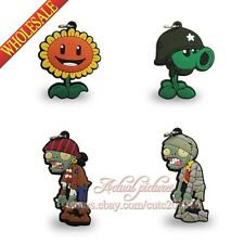 4PCS Plants VS Zombies Pendants Charms for Keychains & necklace & Bracelets,Gift