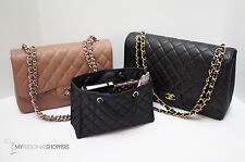 CHIC QUILTED ZOE (SM/MED) HANDBAG ORGANIZER  BASE INSERT FITS YOUR CHANEL BAG