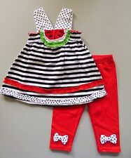 NANNETTE® Toddler Girl's 3T, 4T Red Watermelon Tunic & Legging Set *NWT*