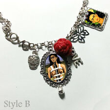 art Frida Kahlo Diego Rivera Kitsch Necklace  charm bracelet
