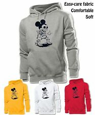 Unisex Mens Womens Punk Skull Cowboy Disney Mickey Mouse Sweatshirt Hoodie Tops