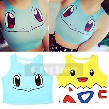 1pc Sexy  Women Ladies Anime Pokemon Squirtle Togepi Belly Tank Tops Vest Shirt