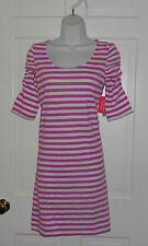 NWT LILLY PULITZER PANSY PURPLE BOAT PARTY STRIPE KALEY DRESS M L XL