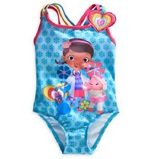 NEW NWT DISNEY STORE DOC MCSTUFFINS SWIM BATHING SUIT BLUE GIRLS LAMBIE - CUTE!