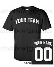 CUSTOM T-Shirt JERSEY Arched Personalized ANY COLOR Name Number Team Softball