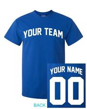 YOUTH CUSTOM T-Shirt JERSEY Arched Personalized ANY COLOR Name Number Team New!