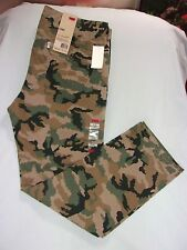 LEVI'S, MEN'S CAMOFLAGE CHINO PANTS, GREEN & BROWN CAMO, SZ: 31, 32, 34, 36,NWTS