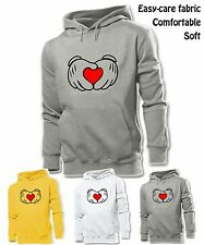 Unisex Mens Womens Disney Mickey Mouse Hands Red Love Sweatshirt Hoodie Tops