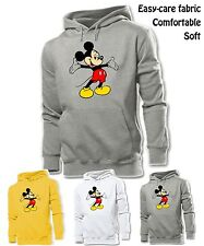 Unisex Mens Womens Disney Mickey Mouse Cute Open Arms Sweatshirt Hoodie Tops