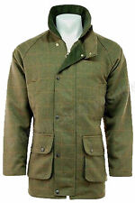 Jacket Men Waterproof Breathable Tweed Derby Wool Warm Shooting Hunting S-4XL