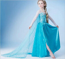 Girls Dress Frozen Elsa Princess Dress Cosplay Costume Party Girls Dress Fancy