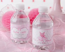 24 Personalized Tutu Cute Water Bottle Labels Baby Shower Favors