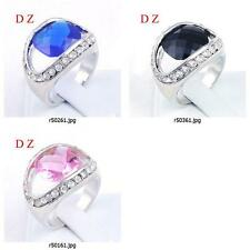 r501m93 Size Pick Women Engagement Eye Design Gemstone Zircon CZ Finger Ring New