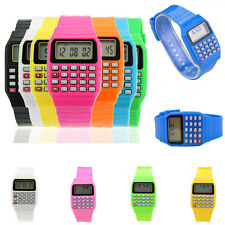 JT11 Multi-Purpose Hottest Silicone Date Child Electronic Calculator Wrist Watch