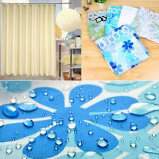 Shower Curtain Bathroom Waterproof Polyester Fabric Random Pattern With Hooks