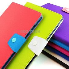 For Apple iPad Air 5th 5 Wallet PU Leather W/Stand Cover Case + Screen Protector