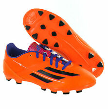 Adidas F10 TRX HG Orange Moulded Studs Kids Boys Football Soccer Boots