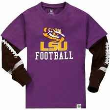 Youth Wes & Willy Purple LSU Tigers Football Fooler Long Sleeve T-Shirt
