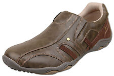 Mens Brand New Brown Slip On Casual Leisure Trainers Size 6 7 8 9 10 11 12