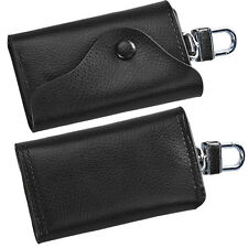NEW Stylish Mens Leather Wallet Car Key Chain Holder 6 Ring Pouch Case WHOLESALE