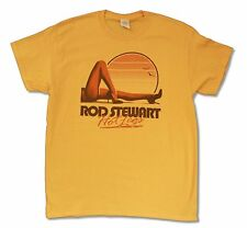 ROD STEWART HOT LEGS TOUR 2014 VANCOUVER-AC YELLOW T SHIRT NEW OFFICIAL