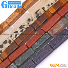 4x13mm Cuboid Gemstone Beads For Jewelry Making Free Shipping Strand 15""