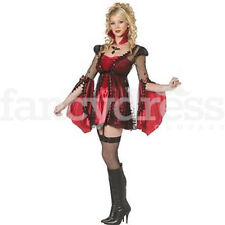 Victorian Vampire Kit Costume Sexy Halloween Steampunk Fancy Dress Outfit NEW