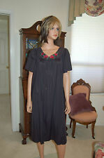 VINTAGE NYLON NIGHTGOWN and ROBE PEIGNOIR, SHADOWLINE SOFT/SHEER 1X, 37280 77280