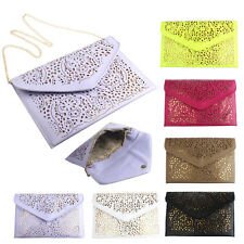 Fashion Women Leather Shoulder Bag Envelope Clutch Messenger Bag Purse Handbag