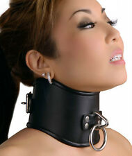 "Strict Leather Locking Posture Collar. 4"" Neck Corset. Sizes S/M/L Available."