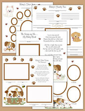 Puppy Premade Scrapbook Pages Layout 12x12 Album Book Baby Boy Gift Ultrasound