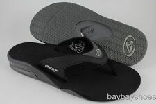 REEF FANNING BLACK/ICE SILVER/GRAY FLIP FLOP THONG SANDALS MICK US MEN SIZES