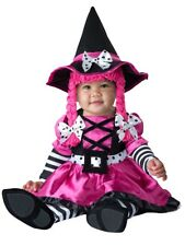 Deluxe Wee Witch Baby Girls Child Infant Costume NEW Pink White Black