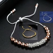 New Stretch Rondelle Crystal Spacer Beads Amazing Bracelet Women Fashion Jewelry