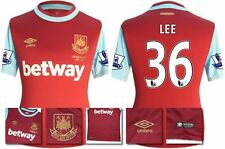 *15 / 16 - UMBRO ; WEST HAM UTD HOME SHIRT SS + PATCHES / LEE 36 = SIZE*
