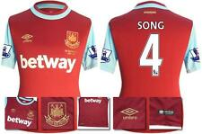 *15 / 16 - UMBRO ; WEST HAM UTD HOME SHIRT SS + PATCHES / SONG 4 = SIZE*
