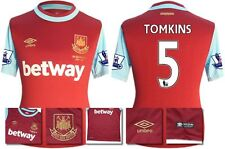 *15 / 16 - UMBRO ; WEST HAM UTD HOME SHIRT SS + PATCHES / TOMKINS 5 = SIZE*
