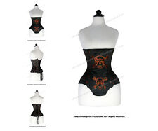 24 Double Steel Boned Waist Train Brocade Underbust Shaper Corset #8551A-DB-BRO